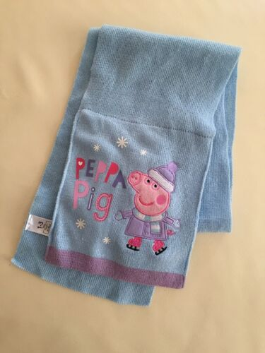NEW Toddler Infant Baby Girl Boy Peppa Pig Winter Scarf, 1-3, 4-6 years Blue