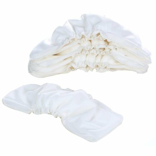 White Bamboo Baby Cloth Nappy Inserts with Gusset