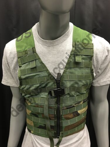 US Military Fighting Load carrier FLC Tactical Vest Woodland Camo MOLLE II BBOther Current Field Gear - 36071