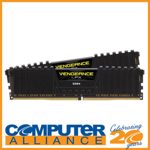16GB DDR4 Corsair (2x8GB) CMK16GX4M2B3000C15 3000MHz Vengeance LPX BLACK RAM