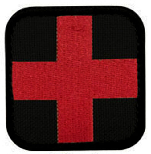 EMBROIDERED RED CROSS PATCH - RED ON BLACK (70-1055)Other Current Military Patches - 36070