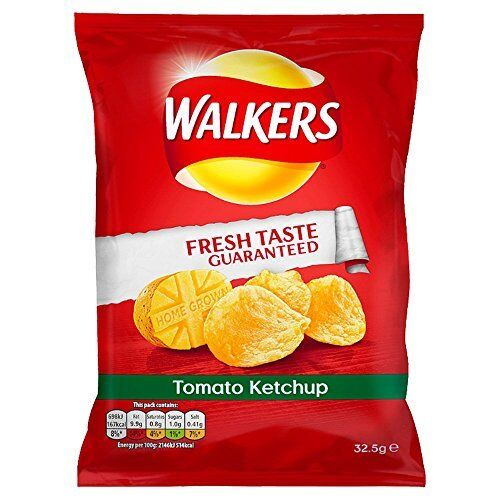 Walkers Tomato Ketchup Crisps 32.5 g Pack of 32