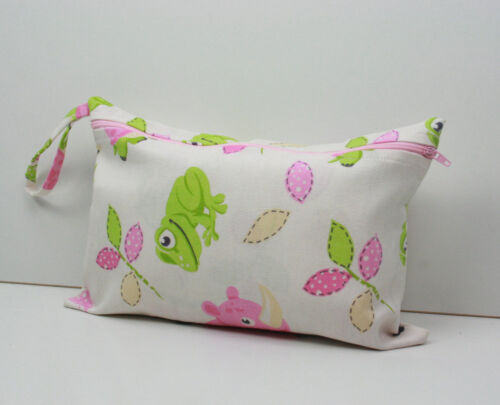 Handmade Baby Nappy Wallet/ Purse /Clutch / Bag Pink