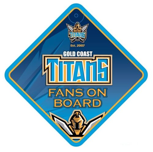 Gold Coast Titans NRL Team Supporters Car Sign * Fans on Board