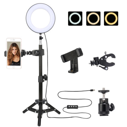 """Zomei LED Ring Light 10"""" Tabletop light Dimmable lighting for Camera Photography"""