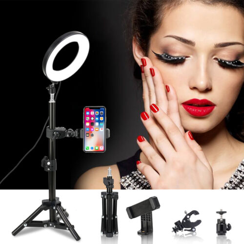 """Zomei LED Ring Light 6"""" Desktop Photograph lamp with Tripod stand&Phone Holder"""