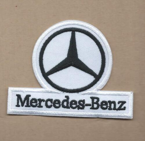 NEW 1 1//2 X 4 3//4 INCH MERCEDES BENZ IRON ON PATCH FREE SHIPPING