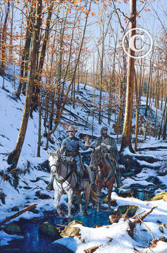 """""""WINTER SHADOWS OF 1862"""" Signed Studio Canvas Giclee By John Paul Strain"""