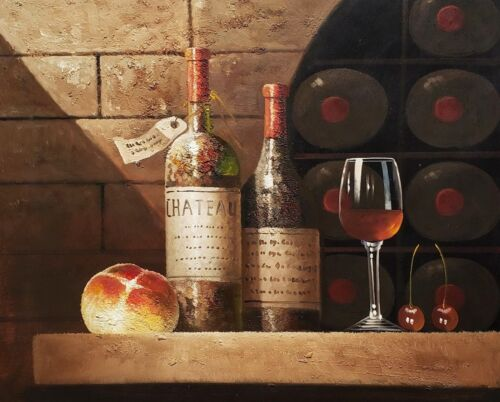 Classic Wine Cellar, #2,  20x24,100% hand Painted Oil Painting on Canvas