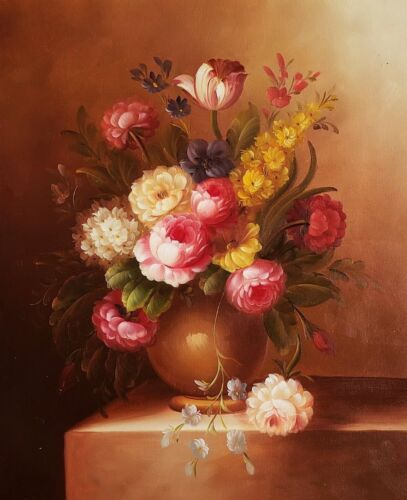 Floral- Classic style  #-4 , 20x24,100% hand Painted Oil Painting on Canvas