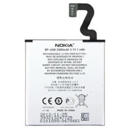 Original Nokia Battery Battery bp-4gw bp4gw for Lumia 920 with 2000ma