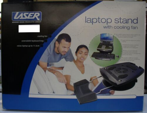 Brand New Laser Swivel Base Laptop/Notebook Cooler Stand with Keyboard Tray