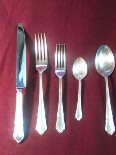 5 PC. PLACE SETTING EPNS Silverplate Butler  DUBARRY No Monogram