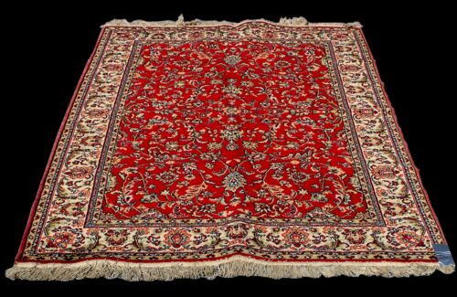 Antique Hamadan Style Hand-Knotted Wool Area Rug