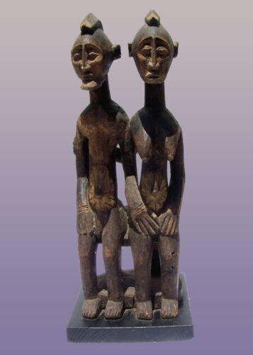 """African Dogon Primordial Couple from Mali 29"""" tall including stand"""