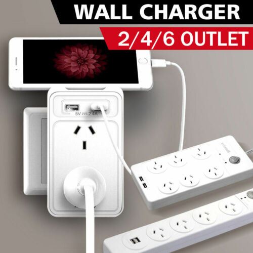 Huntkey 2/4/6 Outlet Surge Protected Powerboard with Dual USB Charging Ports