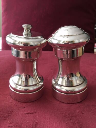 CARTIER STERLING SILVER PEPPER GRINDER AND SALT SHAKER