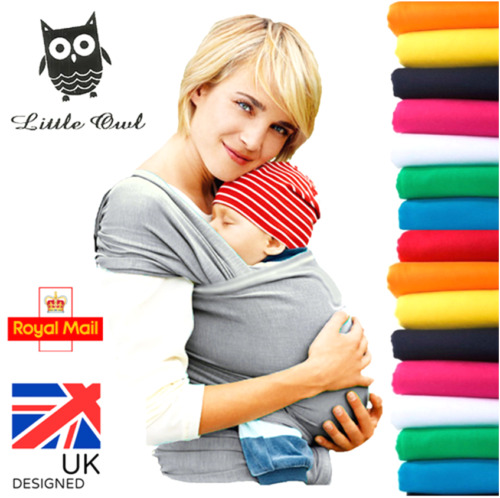 BABY WRAP CARRIER SLING STRETCHY - Breastfeeding - MANY COLOURS!!! <br/> 🔥Trusted UK Seller✔ Baby Safe✔ Silky Soft✔ Easy fold✔