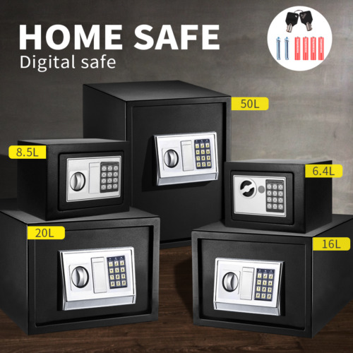 Security Box Electronic Safe Digital Lock Cash Deposit Password Home Office