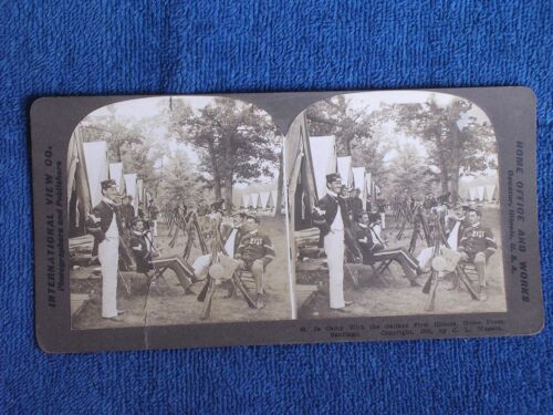 In Camp with 1st Illinois Volunteer Infantry/Spanish-American War/Stereoview