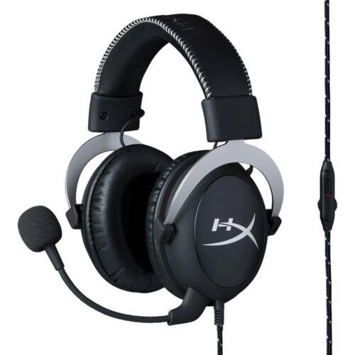 HyperX Cloud Gaming Headset - Silver - w/ in-Line Audio Control [RE-CERTIFIED]