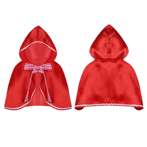 Halloween Party Girls Costume Fairy Tale Kids Baby Cosplay Red Cap Hooded Cloak