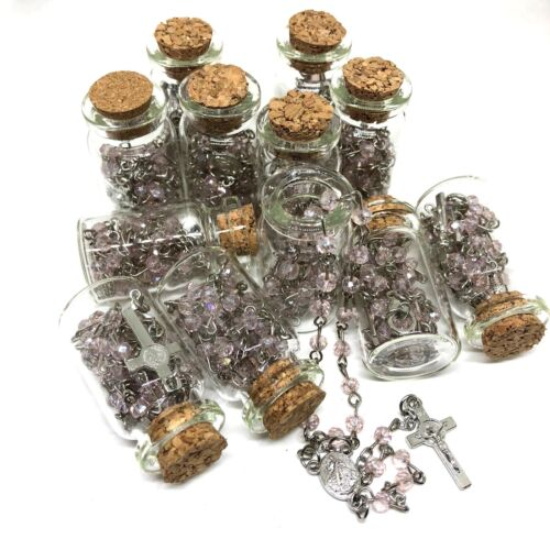 12pcs Rosary glass beads rosary CATHOLIC Rosary Crucifix Necklace lot of 12