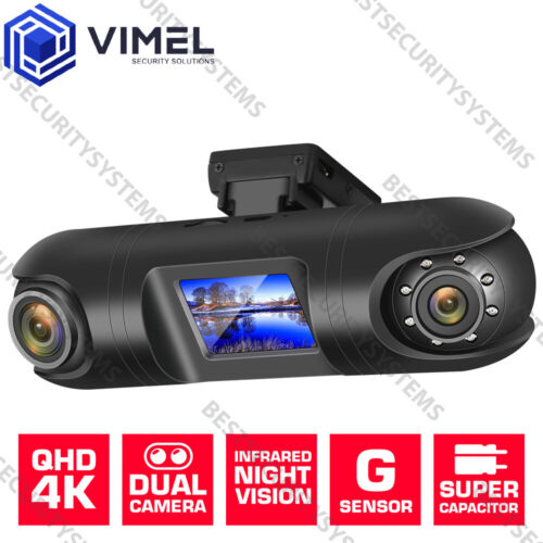Dual Dash Cam Vimel Car Camera GPS 4K WIFI Video Security Guard BEST Australia