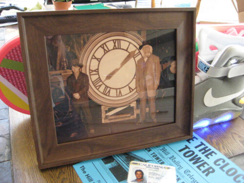 "Back to the Future 3  Doc & Marty / Clock 8""x10"" Repro Photo Prop"
