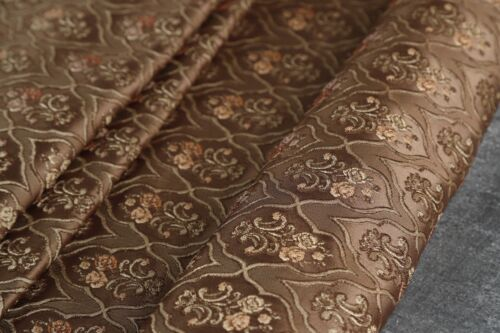 upholstery jacquard fabric vintage design brown for couch  sofa and Curtain