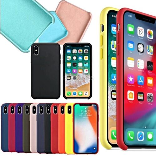 COVER per Iphone X /XS /Max/ XR / 8 /7/ 6 Plus CUSTODIA Slim Silicone Genuine
