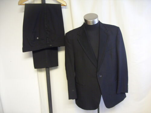 """Mens Dinner Suit Odermark black, chest 46"""" trousers W 40 L 29, to dry clean 7701"""