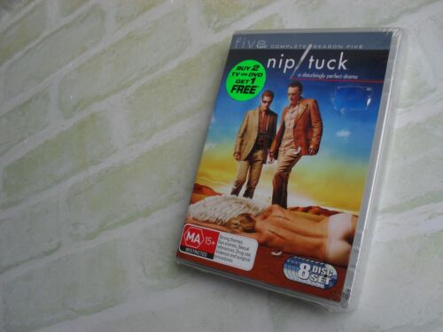 NIP TUCK THE COMPLETE SERIES FIVE -5- REGION 4 PAL - 8 DISC DVD - NEW SEALED