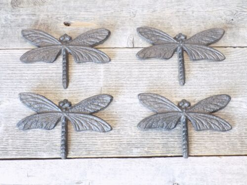 4 WALL DECOR DRAGONFLIES DRAGONFLY BUG INSECT KITCHEN BATHROOM VINTAGE LOOKING