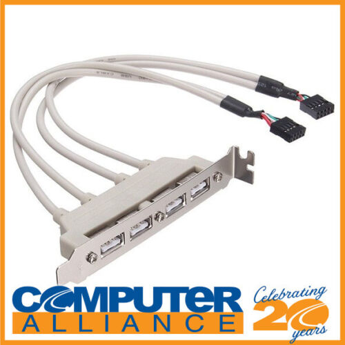 4 Port USB 2.0 Header Cable for Motherboards