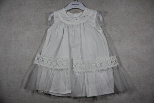 Baby Girl Size 000,00,0,1,2 Fox & Finch Summer White Dress With Embellish NWT