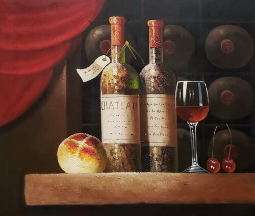 Classic Wine Cellar, #5,  20x24,100% hand Painted Oil Painting on Canvas