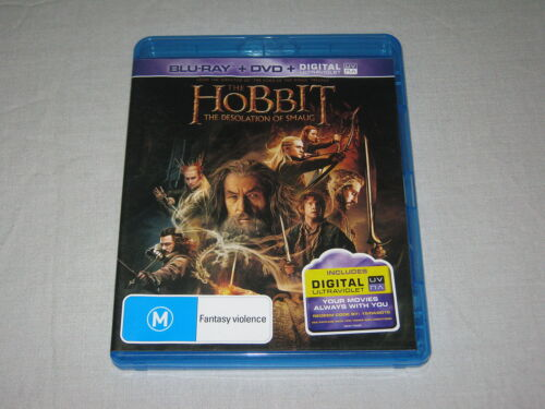 The Hobbit - The Desolation Of Smaug - Blu Ray - Region B - 3 Disc - VGC