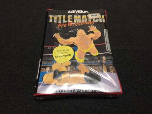 BRAND NEW Title Match Pro Wrestling Atari 2600 Game OZ SELLER FAST POST AUS HES