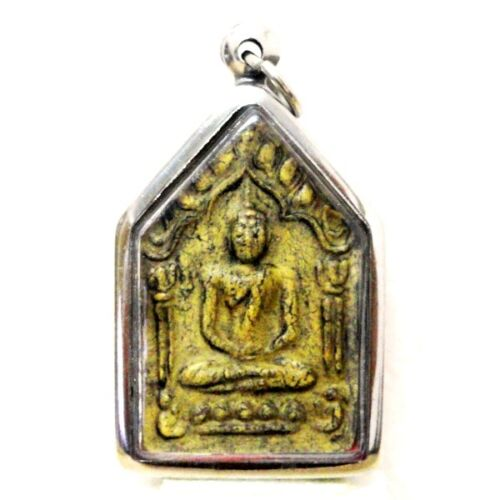 Thai Buddha Amulet Khun Paen LP Pendant AYUTTHAYA Buddhist Art Antique gorgeous