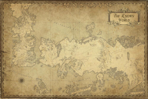 """Game of Thrones  ( 11"""" x 17"""" ) Map Collector's Poster Print - B2G1F"""