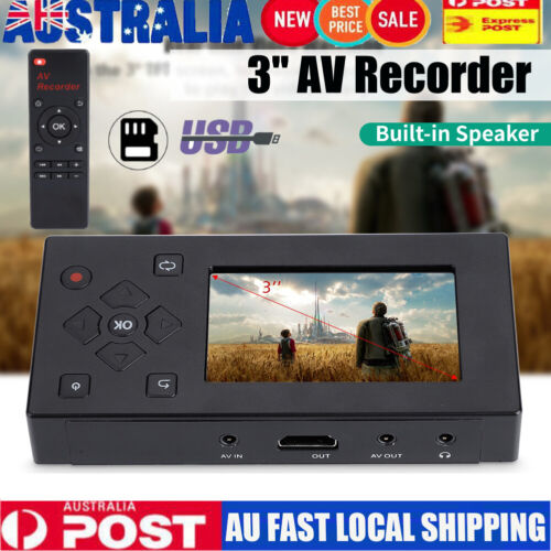 Portable AV Recorder Audio and Video Converter Video Capture Recording Player 3""