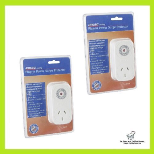 2x ARLEC Plug In Power Surge Protector