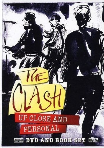 THE CLASH: UP CLOSE AND PERSONAL – DVD AND BOOK SET- R-1- LIKE NEW-FREE POSTAGE