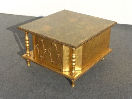 Vintage Hollywood Regency Gold Gilded Coffee Table with Glass Top