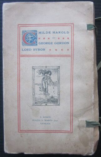 1906ca CHILDE HAROLD George Gordon Lord Byron canto IV S. Rosen Venice Rome