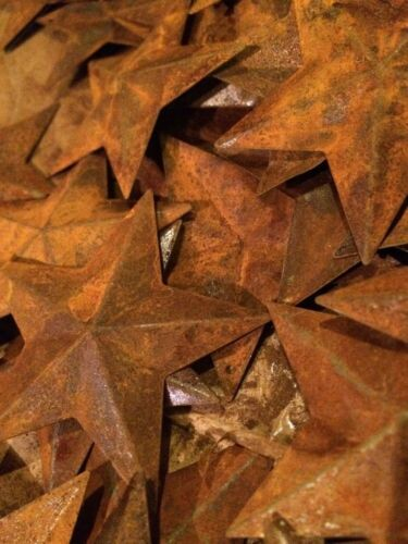 """Lot 100 Rusty Barn Stars 2.25 in 2 1/4"""" Primitive Country Rusted Craft Supply"""