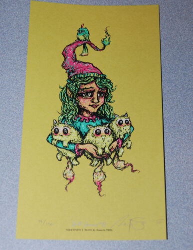 """Marq Spusta Gnome #11 6"""" x 11"""" Art Screen Print Poster Signed Numbered of 150"""
