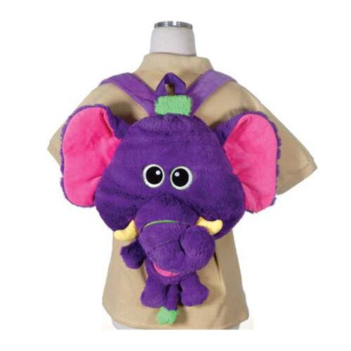 Children's Happy Kritters Elephant Backpack Travel Buddy Pillow Fit Tablet, iPad