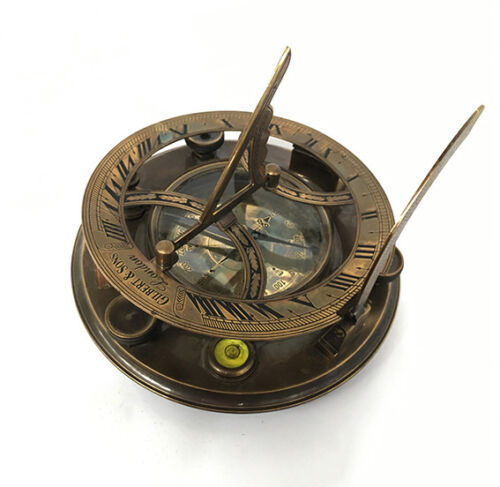 Sundial/Compass - Gilbert & Sons (Large-Screw Adjustable)-VINTAGE NAUTICAL AUST